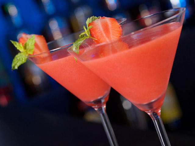 Martini Glass Frozen Drink