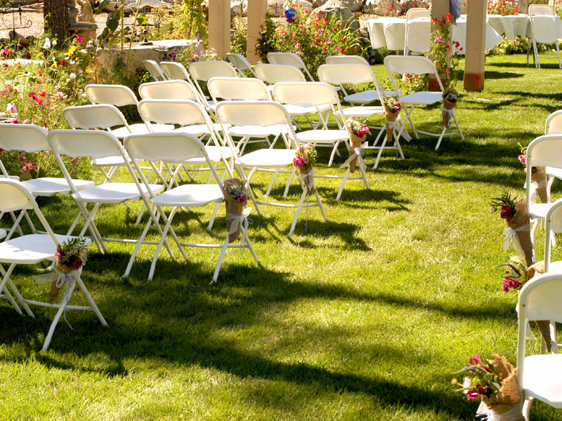 Ceremony Seating White Plastic Folding Chair