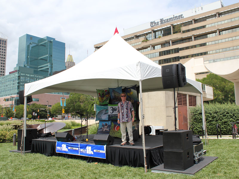 Tent Stage Amp Band And Stage Tent