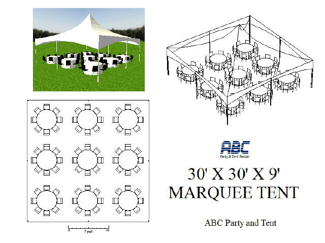Where to rent MARQUEE TENT 30X30X9 in Baltimore Maryland, Washington DC, Columbia MD, Westminster, Annapolis MD