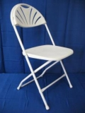 Rental store for PL FOLDING CHAIR FANBACK WHT in Baltimore MD