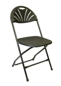 Where to rent PL FOLDING CHAIR FANBACK BLK in Baltimore MD