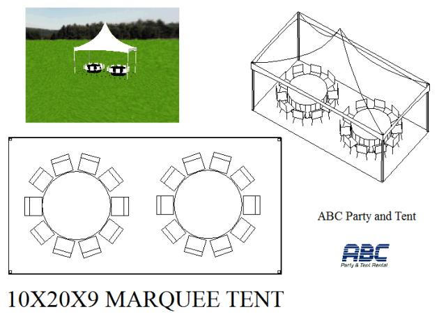 Where to rent MARQUEE TENT 10X20X9 in Baltimore Maryland, Washington DC, Columbia MD, Westminster, Annapolis MD