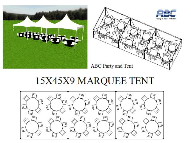 Where to rent MARQUEE TENT 15X45X9 in Baltimore Maryland, Washington DC, Columbia MD, Westminster, Annapolis MD