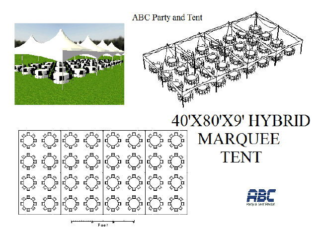 Where to rent MARQUEE TENT HYBRID 40X80X9 in Baltimore Maryland, Washington DC, Columbia MD, Westminster, Annapolis MD