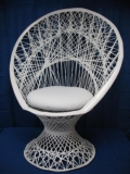 Where to rent WHITE WICKER CHAIR in Baltimore MD
