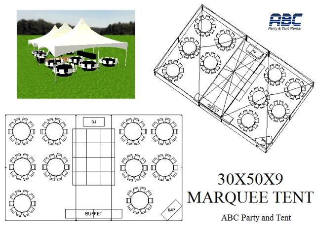Where to rent MARQUEE TENT 30X50X9 in Baltimore Maryland, Washington DC, Columbia MD, Westminster, Annapolis MD