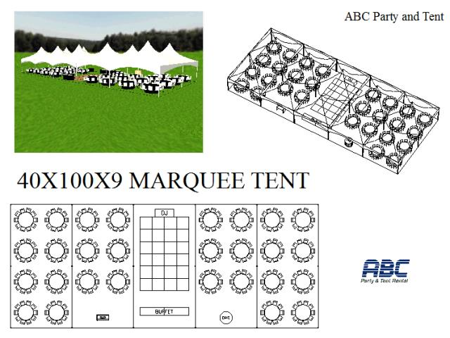 Where to rent MARQUEE TENT HYBRID 40X100X9 in Baltimore Maryland, Washington DC, Columbia MD, Westminster, Annapolis MD
