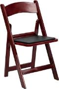 Where to rent WOOD FOLDING - MAHOGANY W PADDED SEAT in Baltimore MD