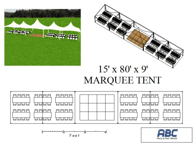 Where to rent MARQUEE TENT 15X80X9 in Baltimore Maryland, Washington DC, Columbia MD, Westminster, Annapolis MD