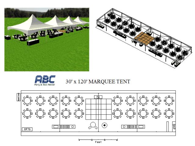 Where to rent MARQUEE TENT 30X120X9 in Baltimore Maryland, Washington DC, Columbia MD, Westminster, Annapolis MD