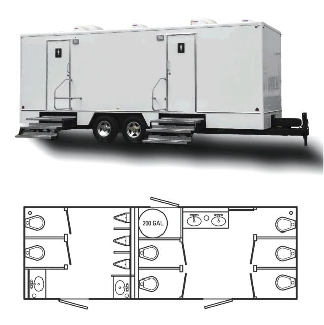 Where to rent PORTA RESTROOM - 24  TRAILER in Baltimore Maryland, Washington DC, Columbia MD, Westminster, Annapolis MD