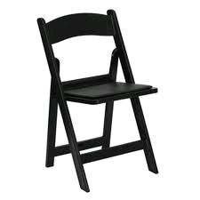 Where to rent RESIN FOLDING - BLACK W PADDED SEAT in Baltimore Maryland, Washington DC, Columbia MD, Westminster, Annapolis MD