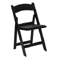 Where to rent RESIN FOLDING - BLACK W PADDED SEAT in Baltimore MD