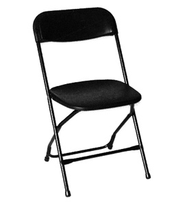 Where to rent PLASTIC FOLDING CHAIR - BLACK in Baltimore Maryland, Washington DC, Columbia MD, Westminster, Annapolis MD