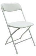 Rental store for PLASTIC FOLDING CHAIR - WHITE in Baltimore MD