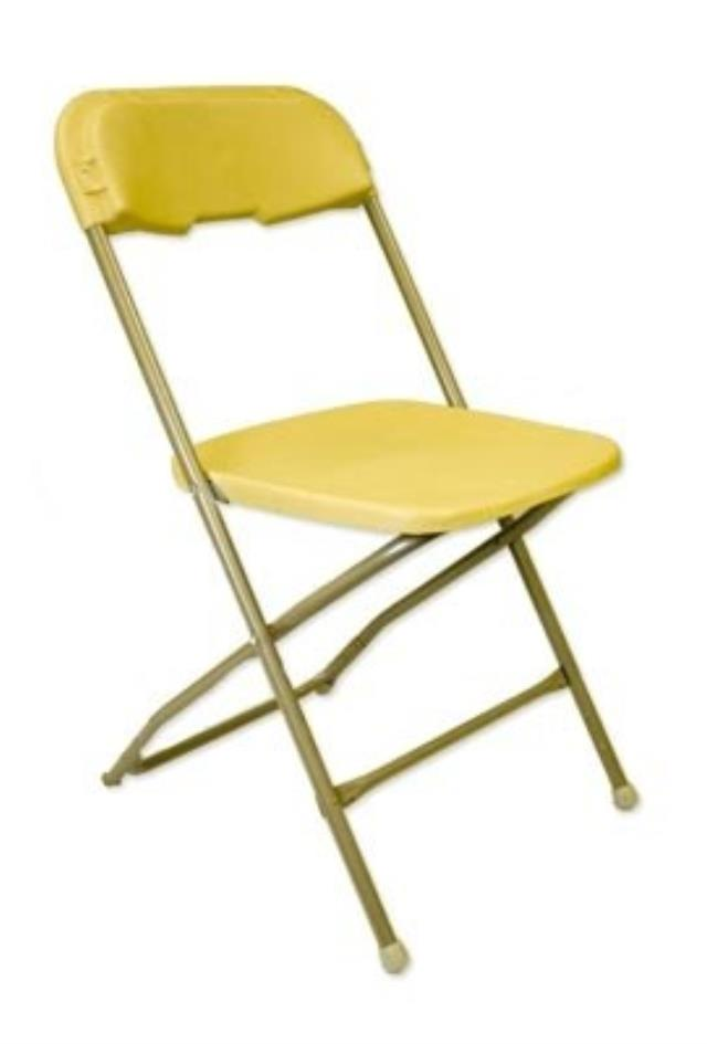 Where to rent PLASTIC FOLDING CHAIR - BACKYARD GOLD in Baltimore Maryland, Washington DC, Columbia MD, Westminster, Annapolis MD
