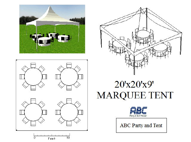 Where to rent HIGH PEAK TENT 20X20X9 in Baltimore Maryland, Washington DC, Columbia MD, Westminster, Annapolis MD