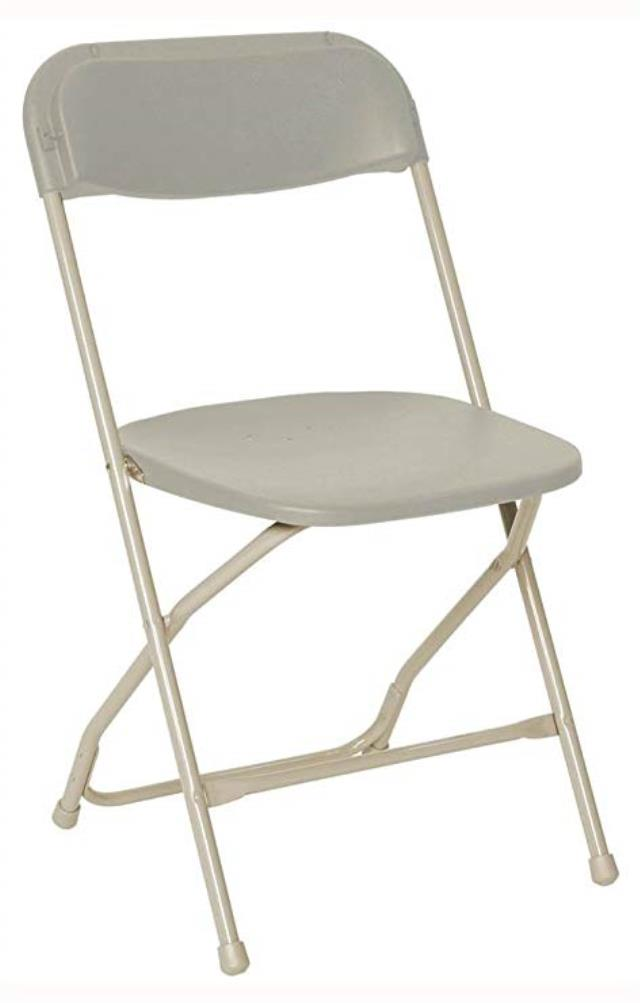 Where to rent PLASTIC FOLDING CHAIR -  BONE in Baltimore Maryland, Washington DC, Columbia MD, Westminster, Annapolis MD