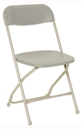 Where to rent PLASTIC FOLDING CHAIR -  BONE in Baltimore MD
