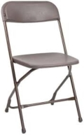 Rental store for PLASTIC FOLDING CHAIR - BACKYARD BROWN in Baltimore MD