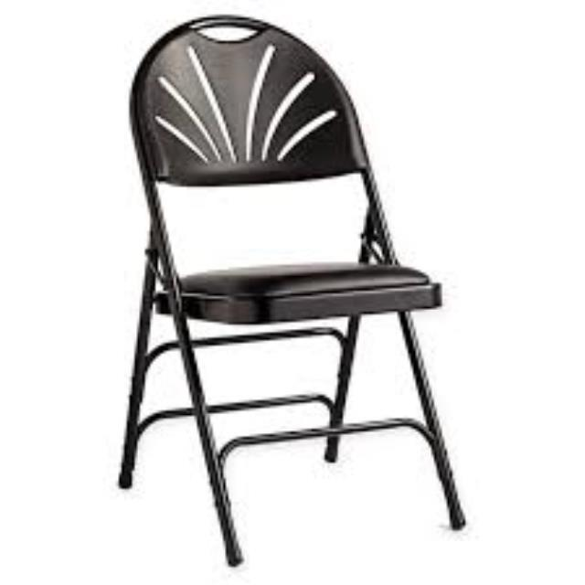 Where to rent BLACK PADDED FAN BACK CHAIR in Baltimore Maryland, Washington DC, Columbia MD, Westminster, Annapolis MD