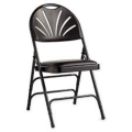 Where to rent BLACK PADDED FAN BACK CHAIR in Baltimore MD