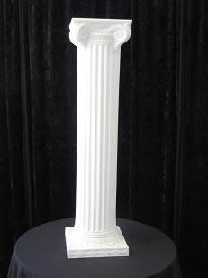 Where to rent ROMAN COLUMN WHITE 40  SQUARE BASE in Baltimore Maryland, Washington DC, Columbia MD, Westminster, Annapolis MD