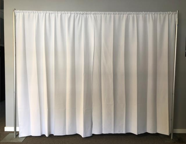 Where to rent PIPE   DRAPE 8X10 WHITE in Baltimore Maryland, Washington DC, Columbia MD, Westminster, Annapolis MD