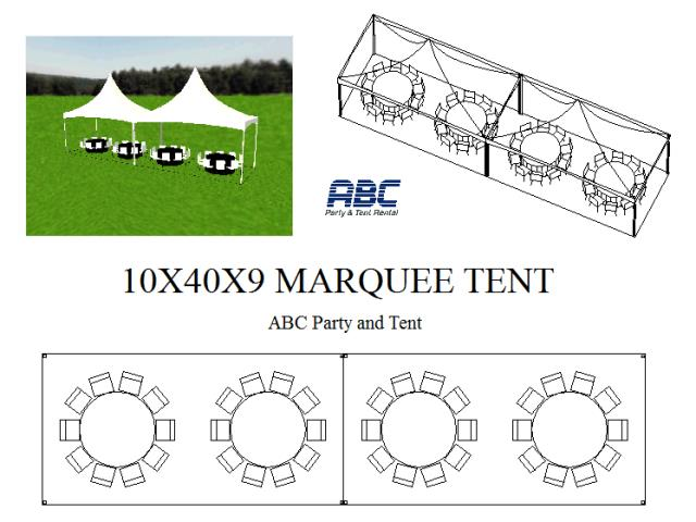 Where to rent HIGH PEAK TENT 10X40X9 in Baltimore Maryland, Washington DC, Columbia MD, Westminster, Annapolis MD