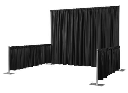 Where to rent PIPE   DRAPE BOOTH BLACK in Baltimore Maryland, Washington DC, Columbia MD, Westminster, Annapolis MD