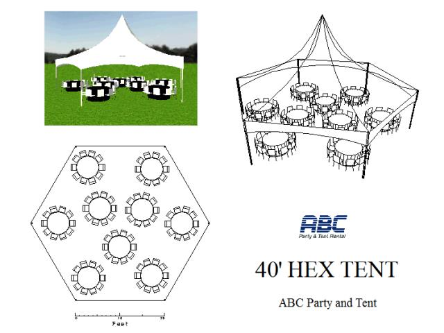Where to rent MARQUEE TENT HEXAGON 40 in Baltimore Maryland, Washington DC, Columbia MD, Westminster, Annapolis MD